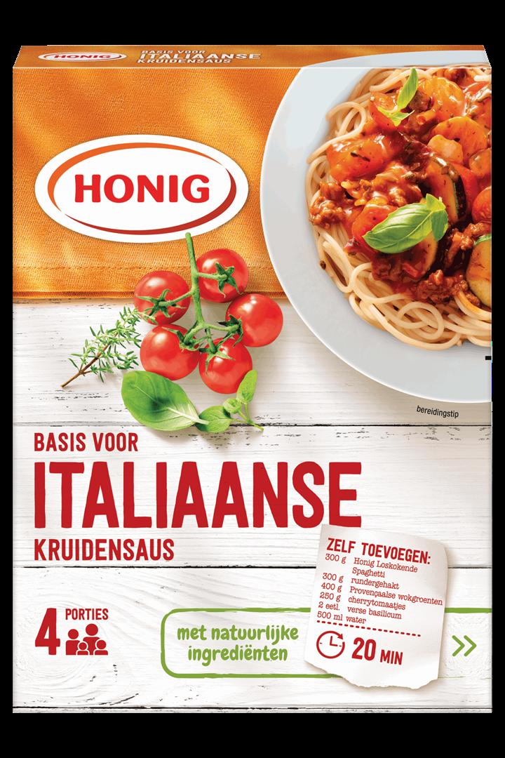 Productafbeelding Honig Mix Basis voor Italiaanse Kruidensaus 68 g Doos