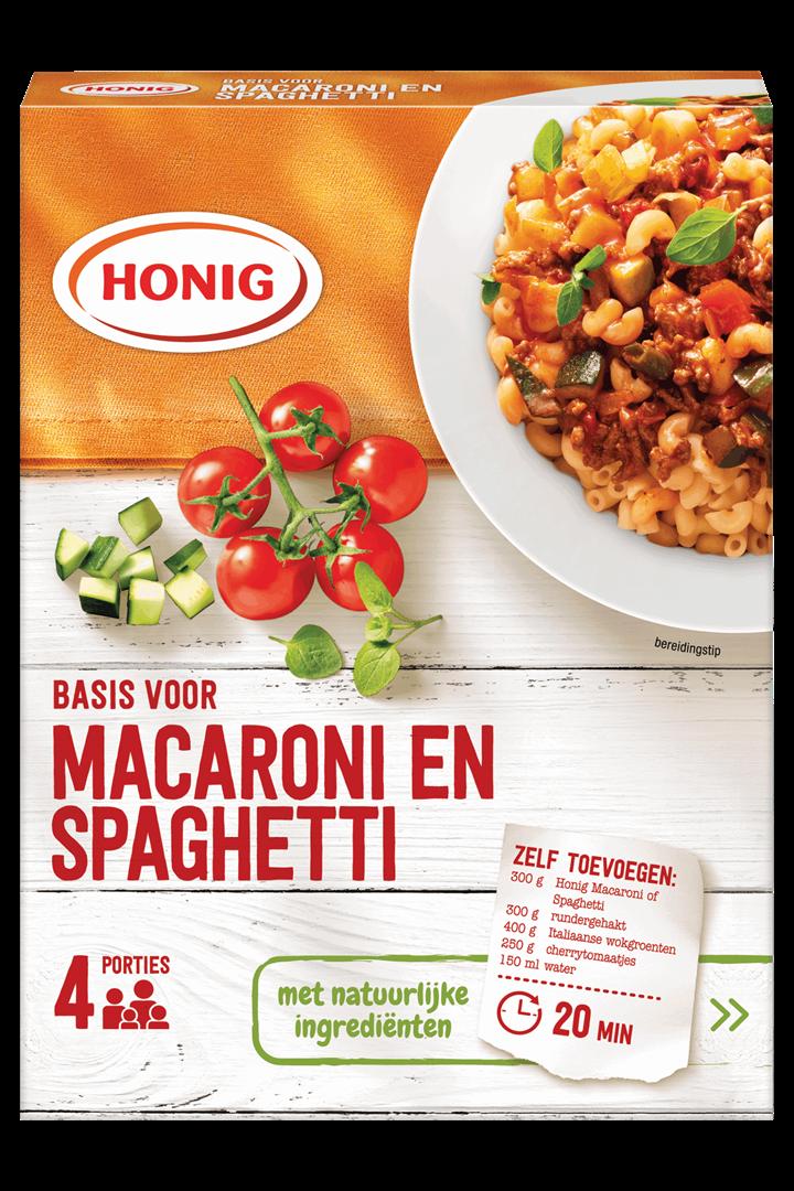 Productafbeelding Honig Mix Basis voor Macaroni en Spaghetti 41 g Doos