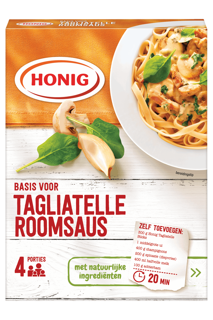 Productafbeelding Honig Mix Basis voor Tagliatelle Roomsaus 62 g Doos