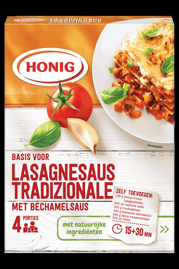 Productafbeelding Honig Mix in Droge Vorm Basis voor Lasagnesaus Tradizionale met Béchamelsaus 1 st. Doos