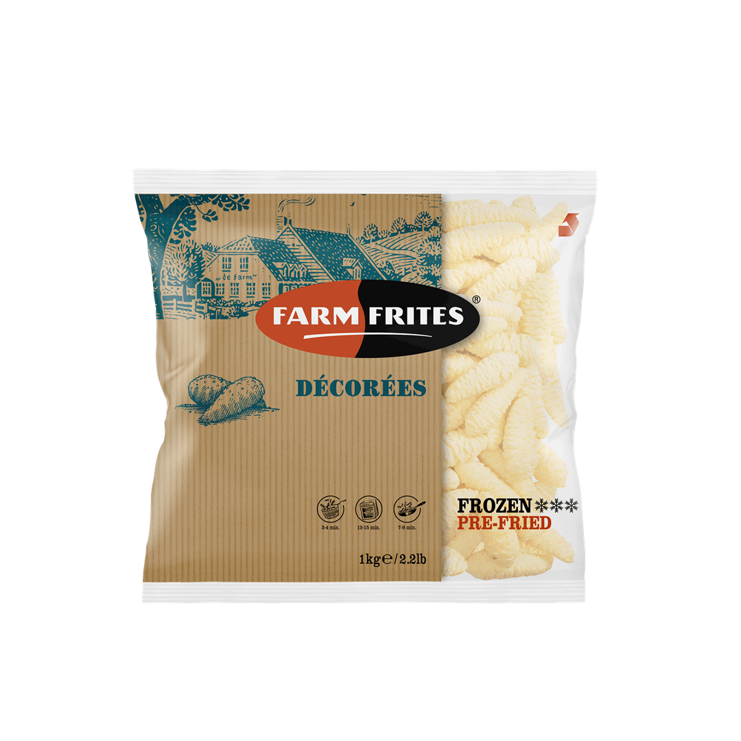 Productafbeelding Farm Frites Decorees 1000 gram