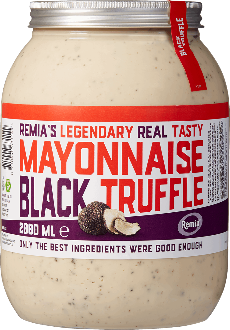 Productafbeelding Remia's Legendary Real Tasty Mayonnaise Black Truffle | Bokaal 2 L