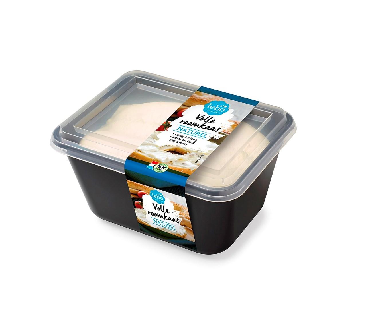 Productafbeelding LEBO Volle roomkaas Naturel romig & stevig 1kg