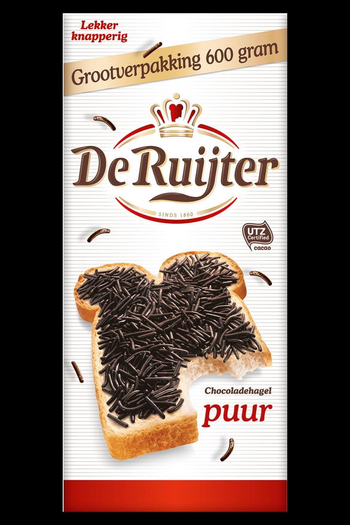 Productafbeelding De Ruijter Chocoladehagelslag Puur 600 g Doos