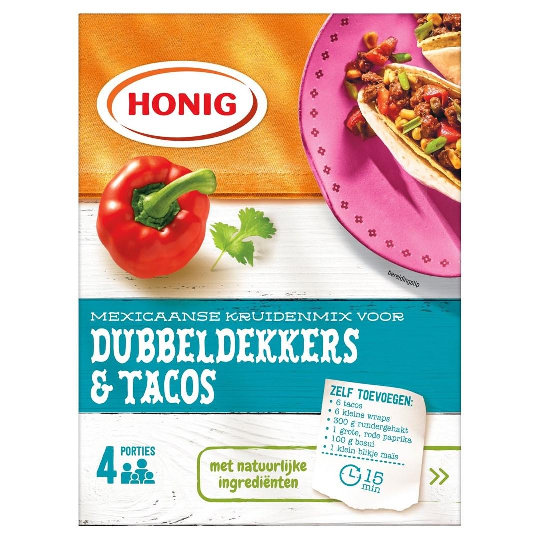 Productafbeelding Honig Mix in Droge Vorm Mexicaanse Dubbeldekkers & Tacos 28 g Doos
