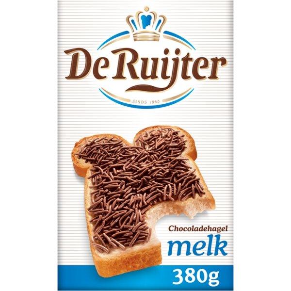 Productafbeelding De Ruijter Melkchocoladehagelslag 380 g Doos