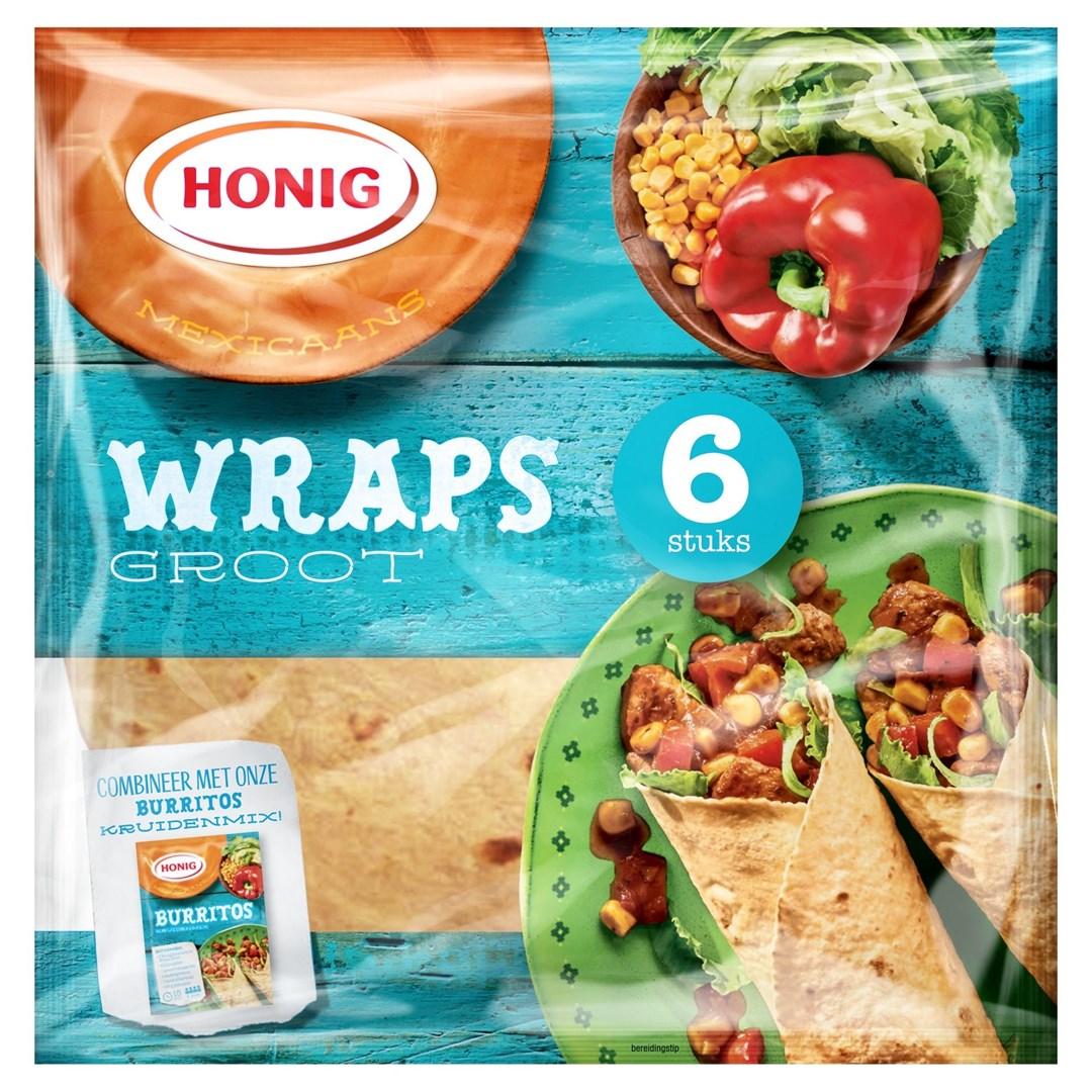 Productafbeelding Honig Wraps Mexicaanse Groot 380 g Zak