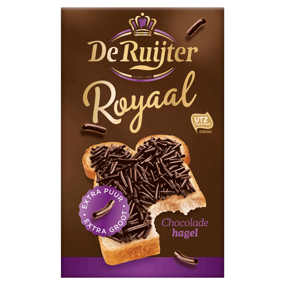 Productafbeelding De Ruijter Chocoladehagelslag Royaal 380 g Doos