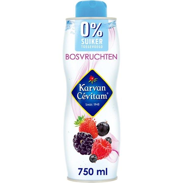 Productafbeelding Karvan Cévitam Vruchtenlimonadesiroop Bosvruchten 0% suiker 750 ml Blik