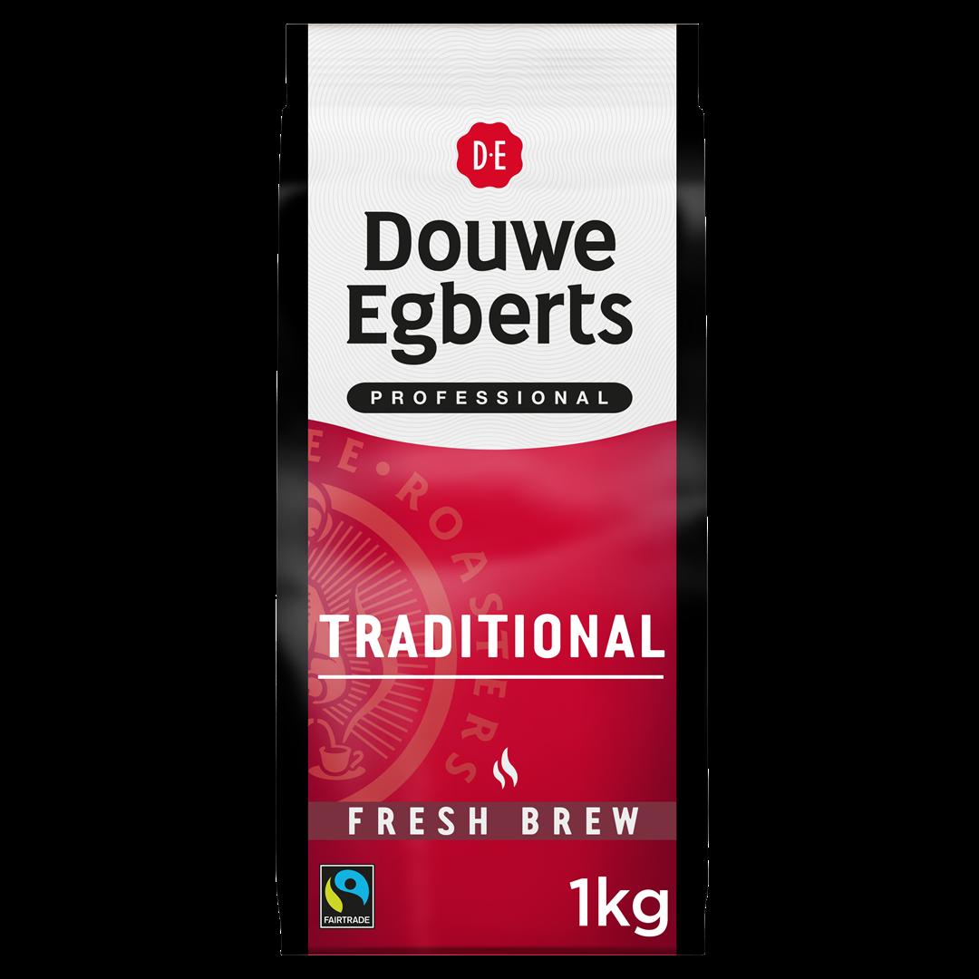 Productafbeelding Douwe Egberts Fresh Brew Gemalen Koffie Traditional Fair Trade 1000g