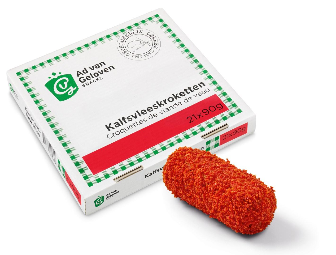 Productafbeelding Ad van Geloven Kalfsvleeskroket 21 x 90 gram