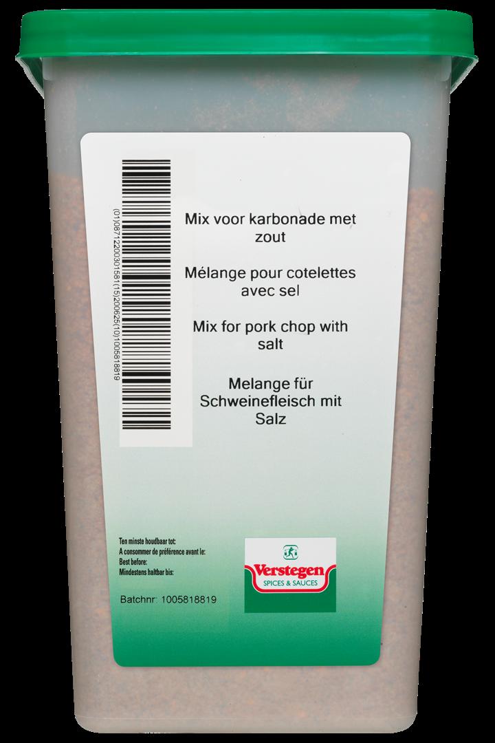 Productafbeelding Verstegen  mix voor karbonade met zout 2000 g kuipje