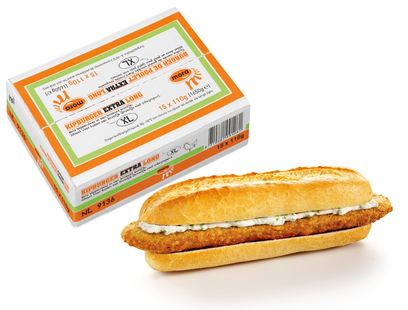 Productafbeelding Mora Kipburger Extra Long 24 x 85 gram