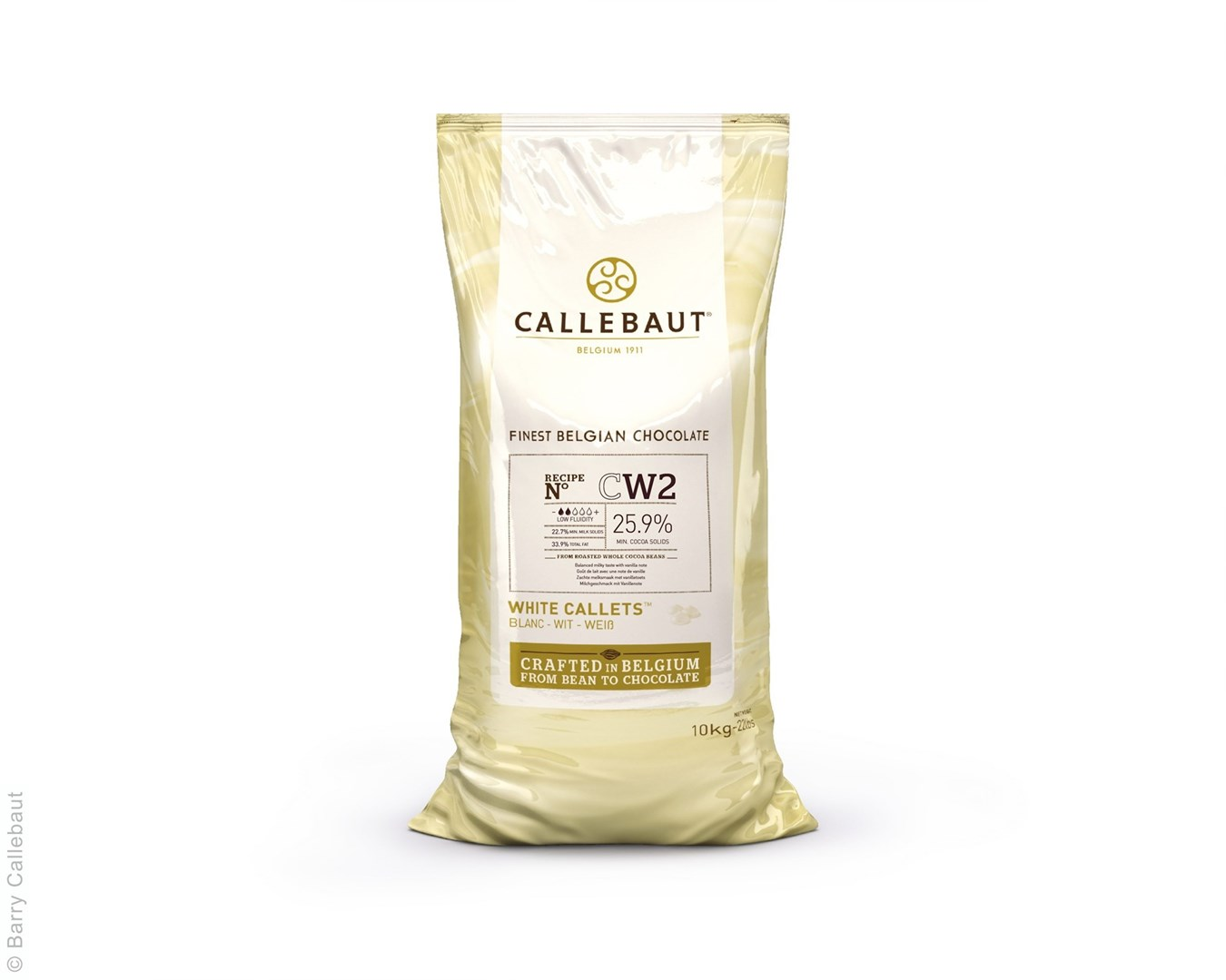 Productafbeelding Callebaut witte chocolade callets - CW2NV - 10 kg (25,9%)