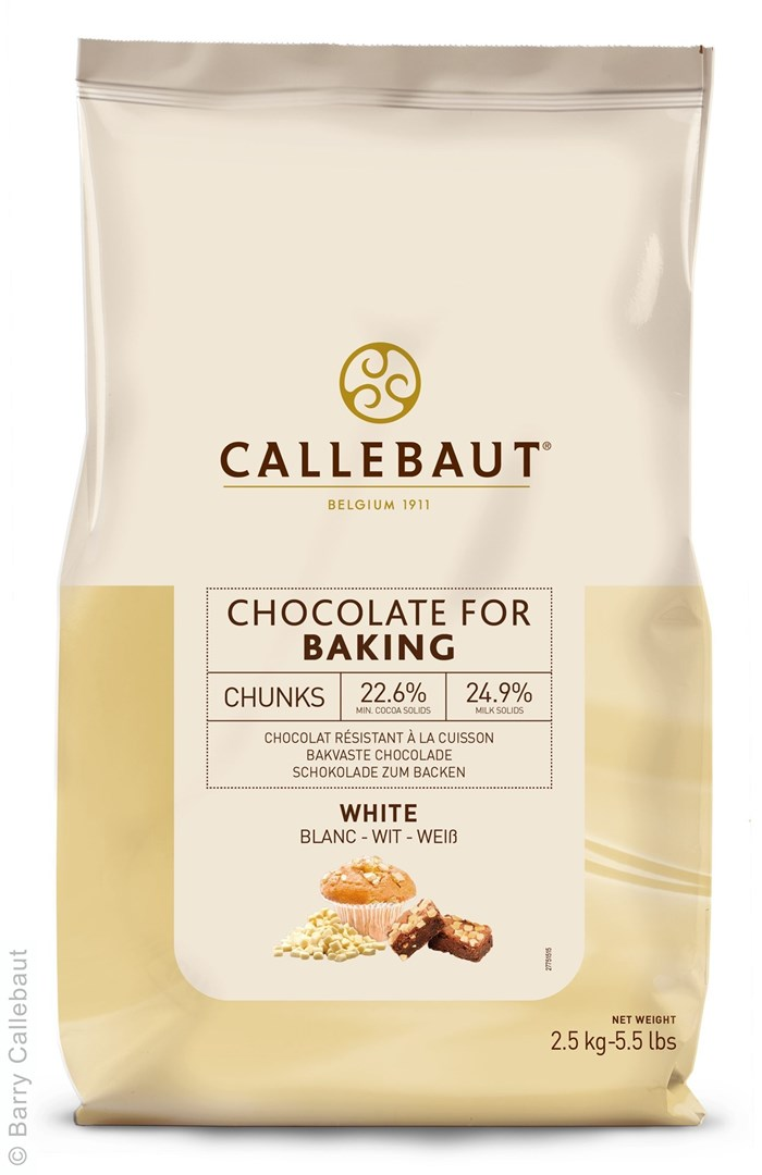 Productafbeelding Callebaut Chocolate Chunks - Wit - Large - zak 2,5 kg