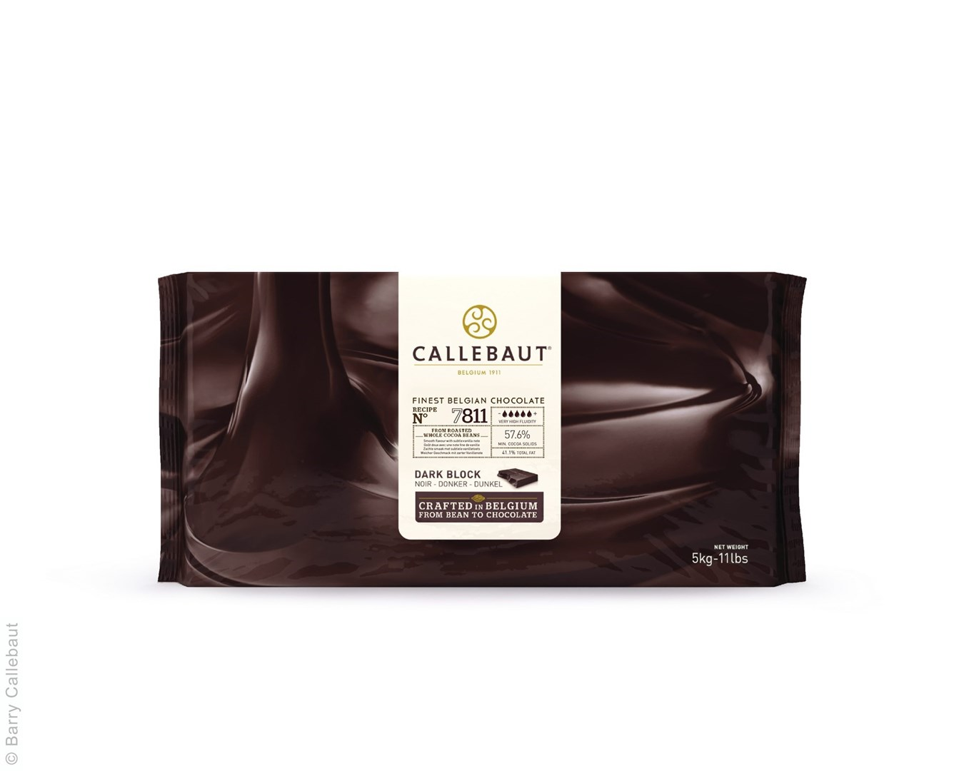 Productafbeelding Callebaut donkere chocolade Blok - 7811NV - 5 kg (57,6%)