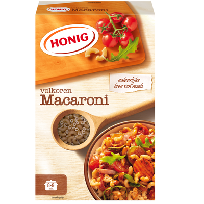 Productafbeelding Honig Deegwaar Macaroni Volkoren 550 g Doos