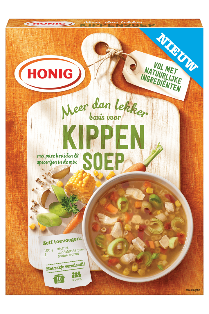 Productafbeelding Honig Soep Basis voor Kippensoep 56 g Doos