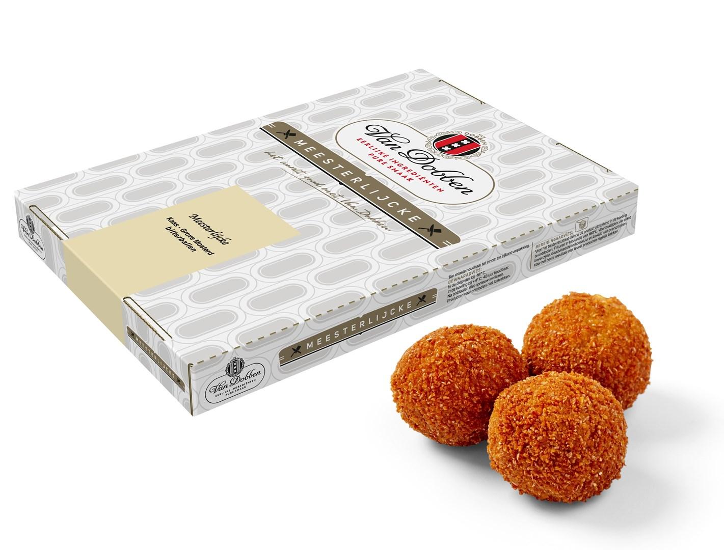 Productafbeelding Van Dobben Meesterlijcke Kaas - Grove Mosterd bitterballen 54 x 30 gram