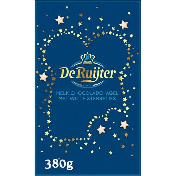 Productafbeelding De Ruijter Mix Melk Chocoladehagel met Witte Sterretjes 380 g Doos