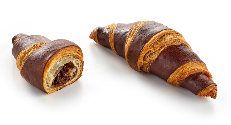 Productafbeelding CROISSANT DOUBLE COLOUR CHOCO FILLED