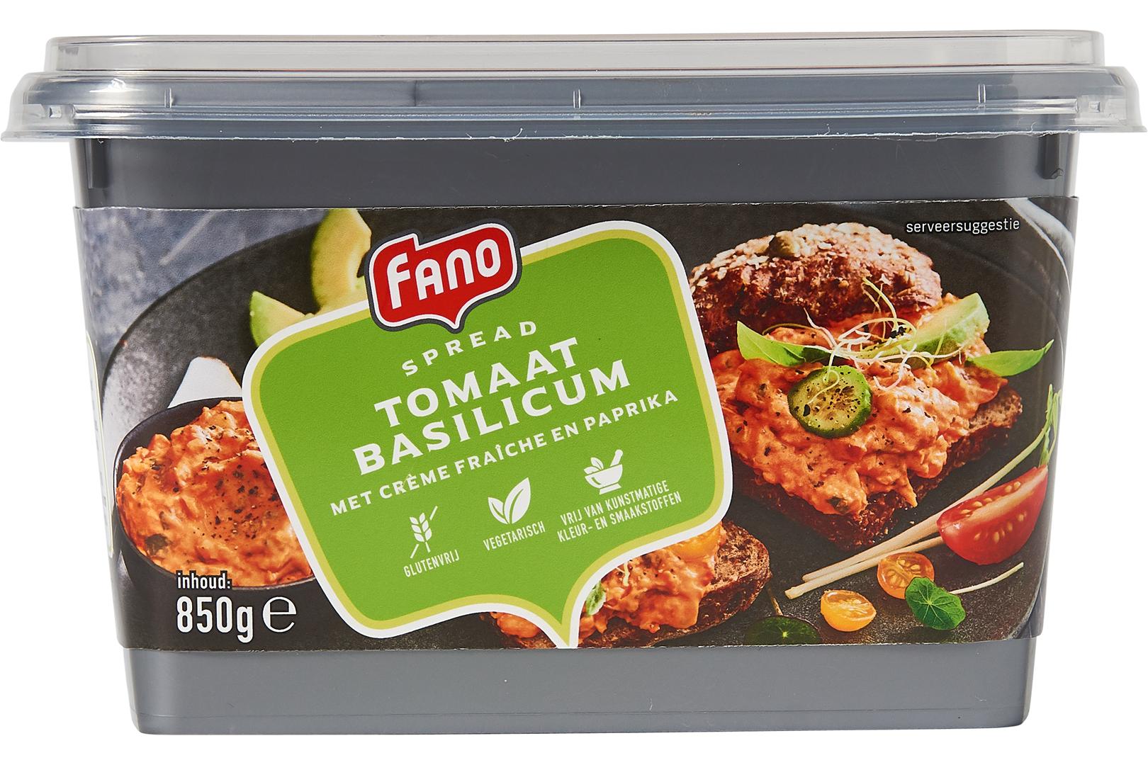 Productafbeelding FANO Tomaat basilicum spread 850g