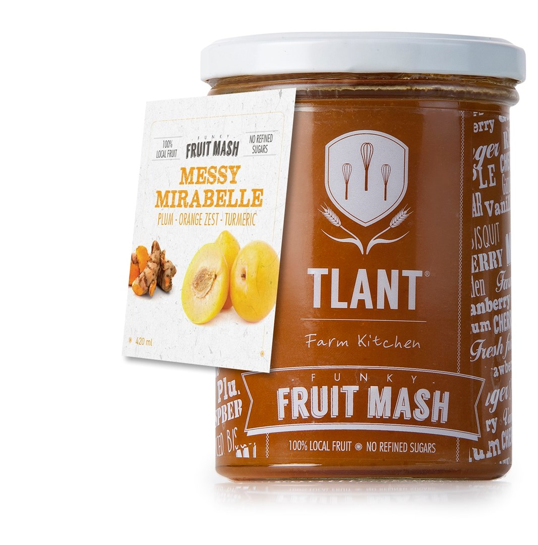 Productafbeelding TLANT Funky Fruit Mash Messy Mirabelle 420ML