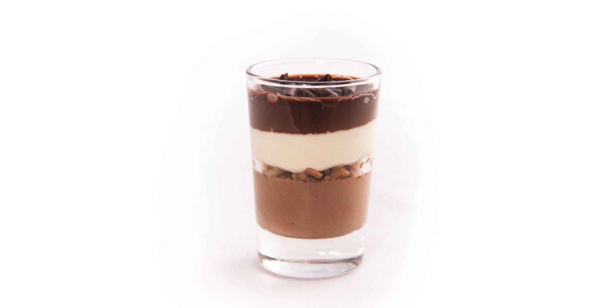 Productafbeelding Dessert glaasje triple choco echt glas