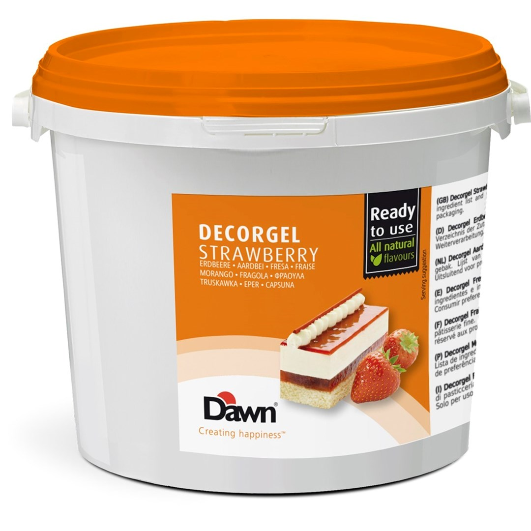 Productafbeelding Dawn Decorgel Strawberry 3 kg emmer