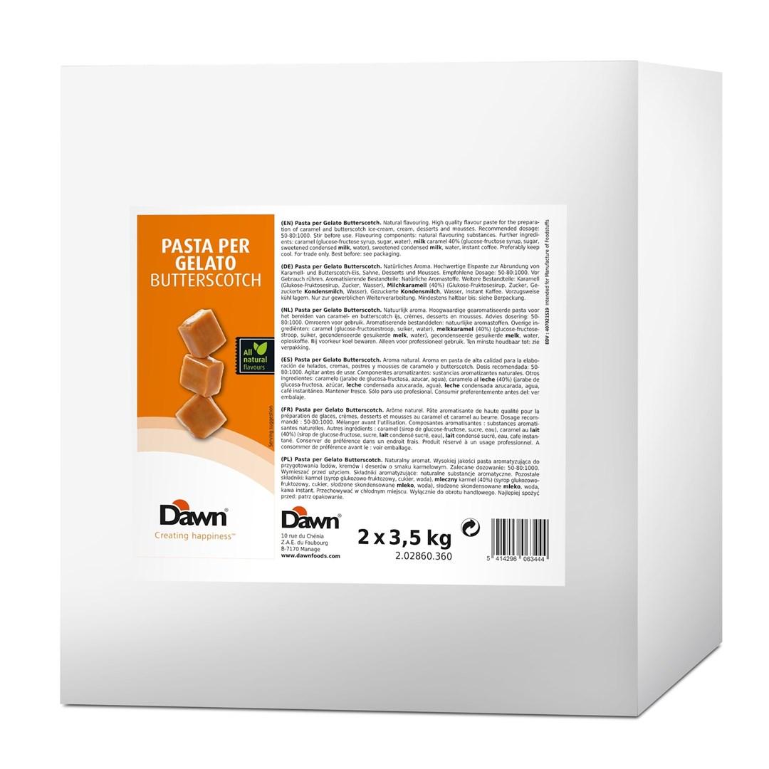 Productafbeelding Dawn Pasta Per Gelato Butterscotch 3,5 kg blik