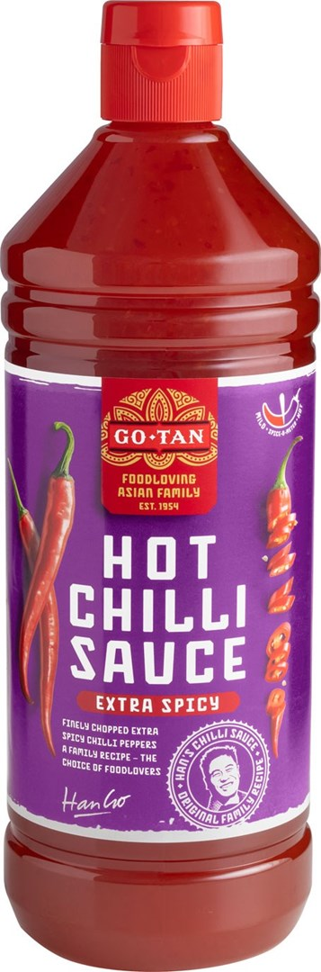 Productafbeelding Go-Tan Chilli Sauce Hot 1000 ml fles