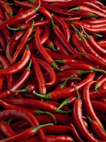 Productafbeelding Rode chilipeper gehakt 4-6 mm 10000g