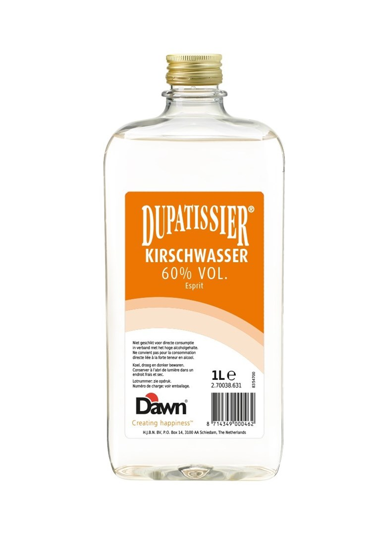 Productafbeelding Dawn Dupatissier Kirschwasser 60% vol. 1 lt fles