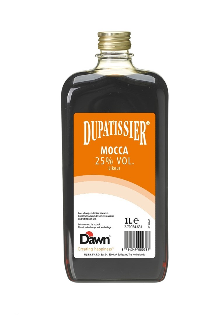 Productafbeelding Dupatissier Mocca 25% vol. Likeur 1 lt fles