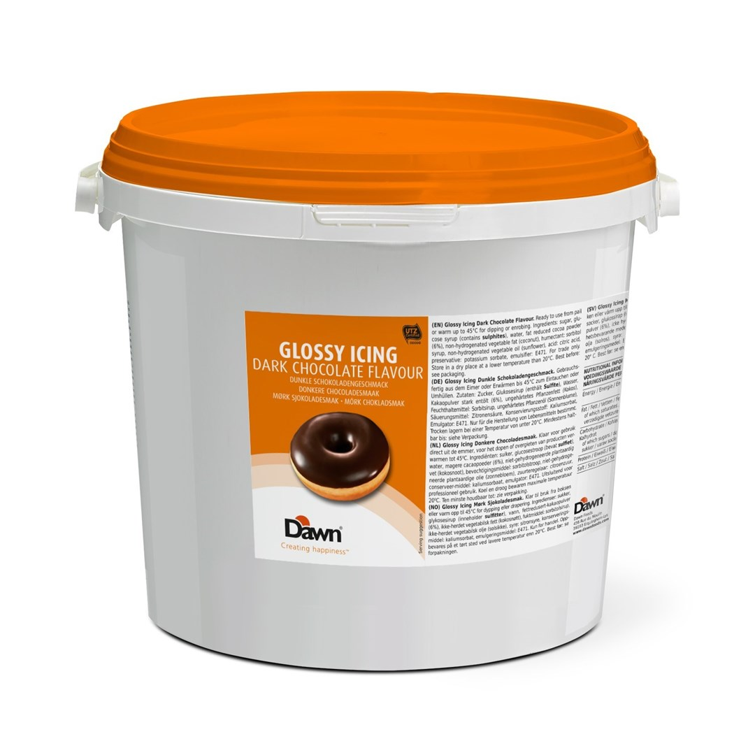 Productafbeelding Baker's Select Dark Chocolate Glossy Icing 14 kg emmer