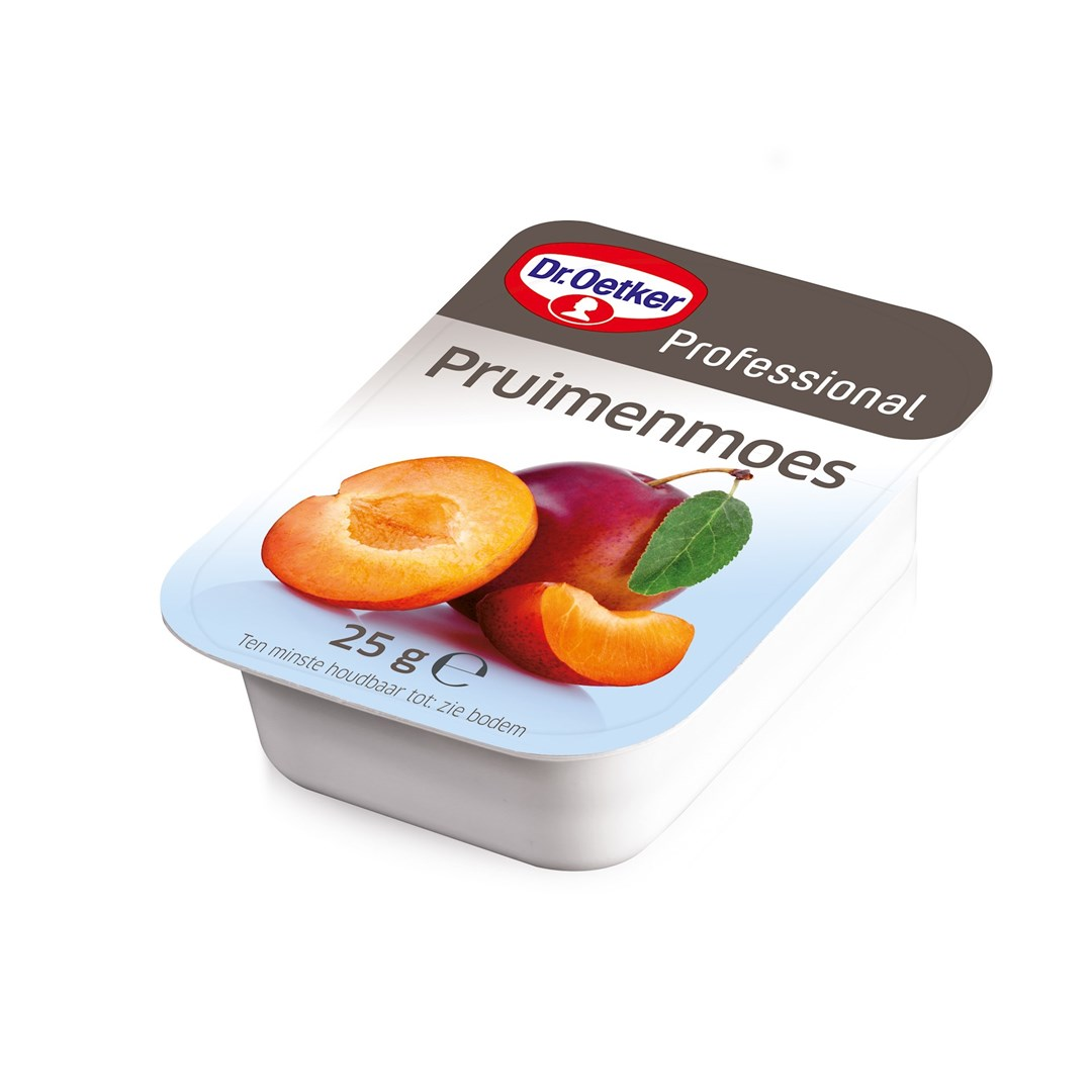 Productafbeelding Dr. Oetker Professional Pruimenmoes Cups 100x25g