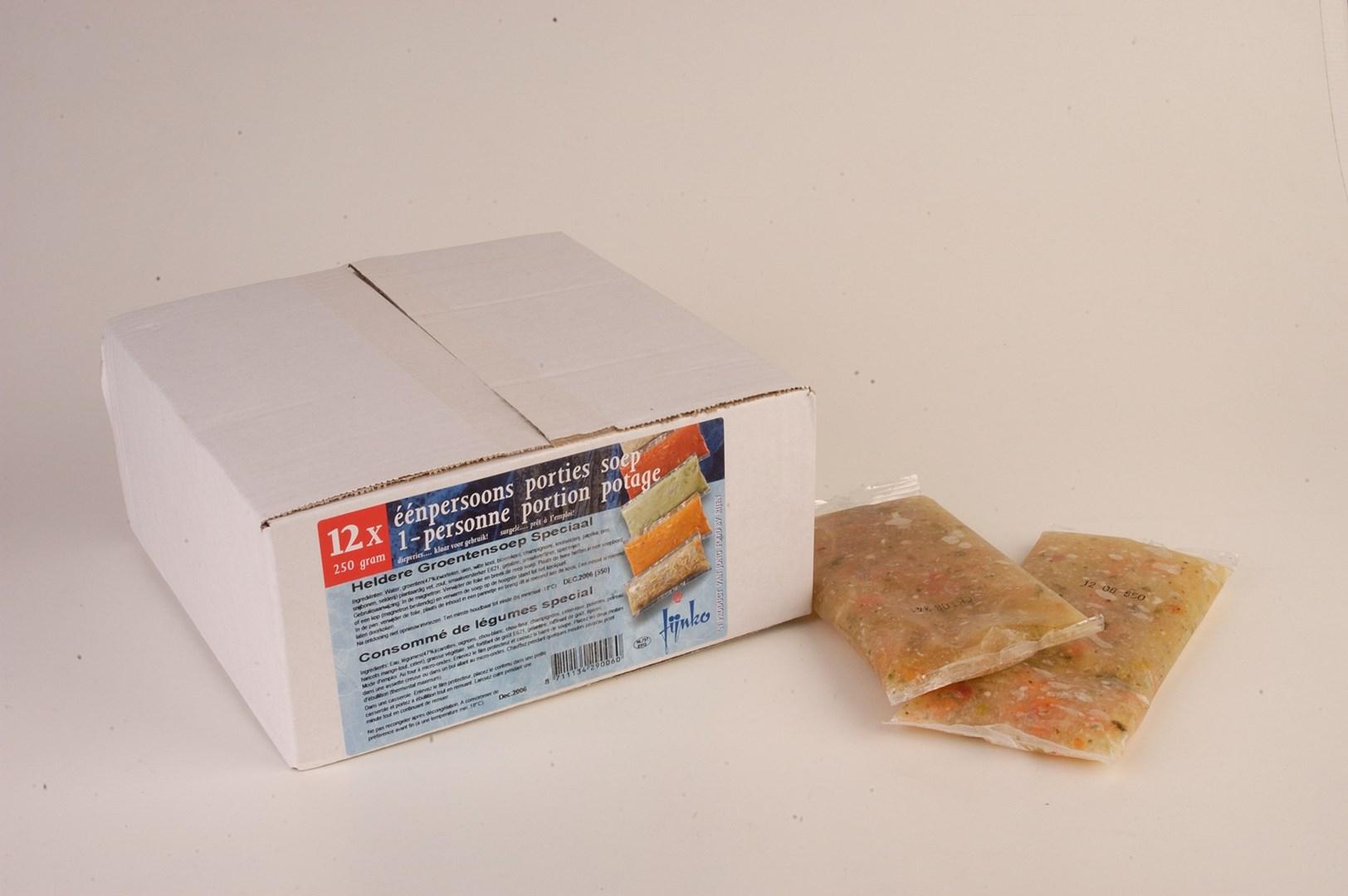 Productafbeelding Heldere Groentesoep speciaal 12x250gram