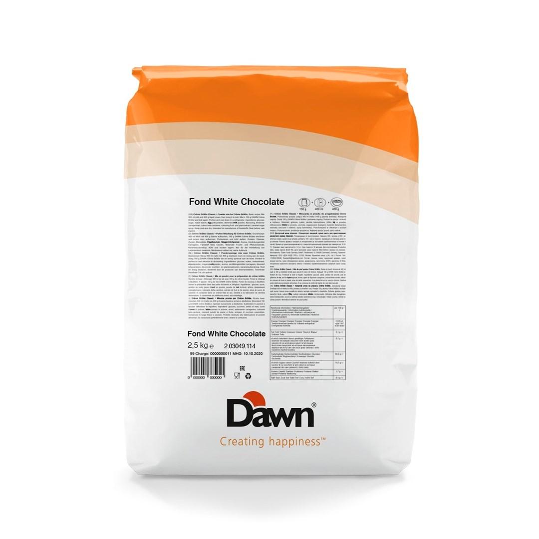 Productafbeelding Dawn Fond Type Witte Chocolade 2,5 kg stazak