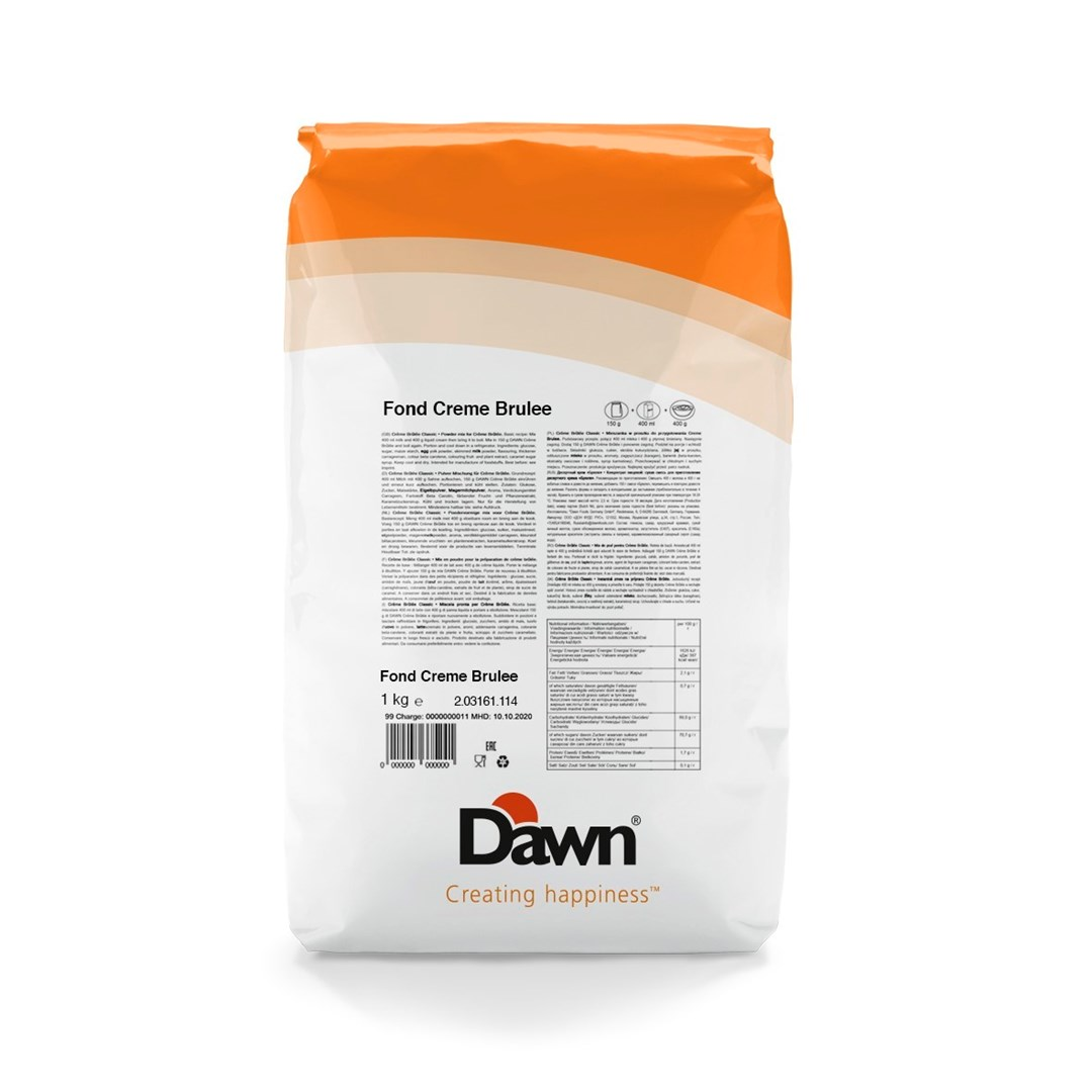 Productafbeelding Dawn Fond Crème Brûlée 1 kg stazak