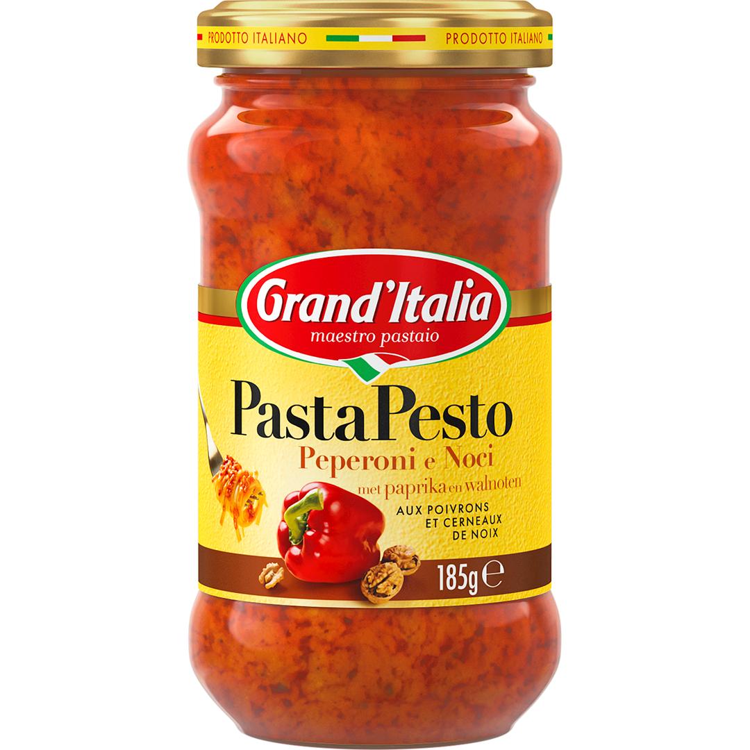 Productafbeelding Grand'Italia Pesto Saus Peperoni e Noci 185 g Bus