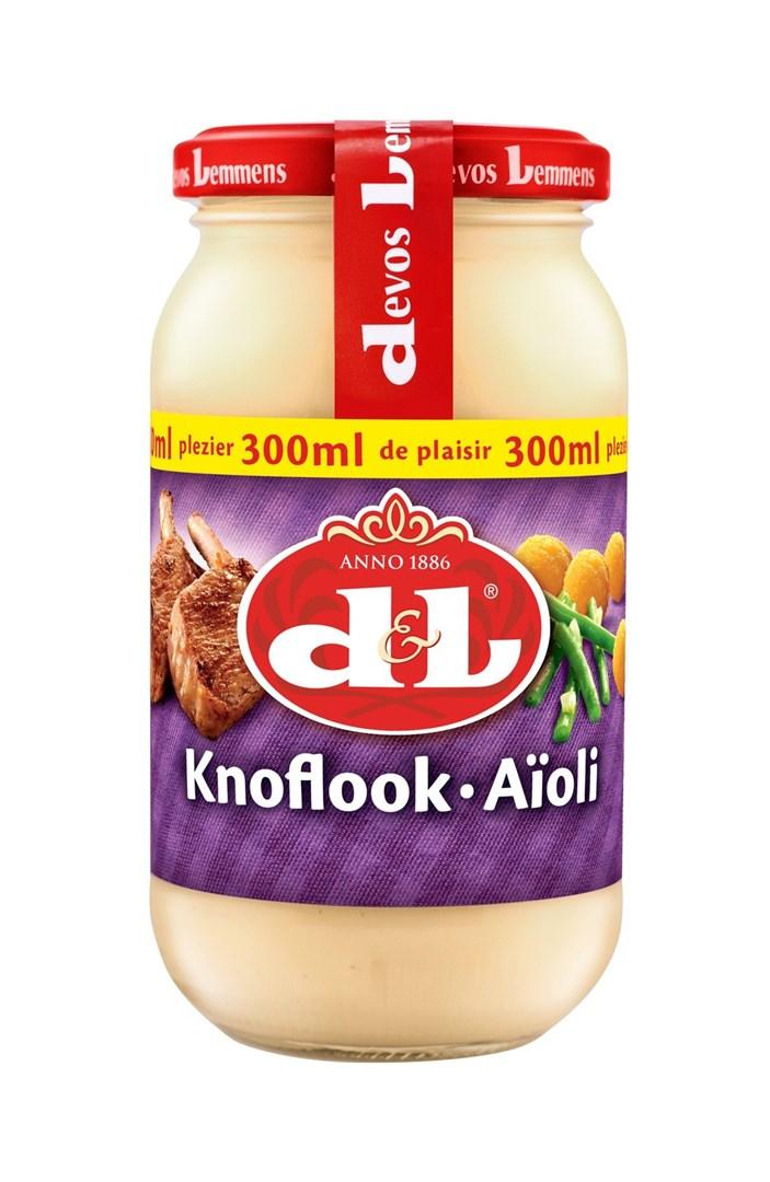 Productafbeelding D&L Saus Knoflook Aïoli 300 ml Bus