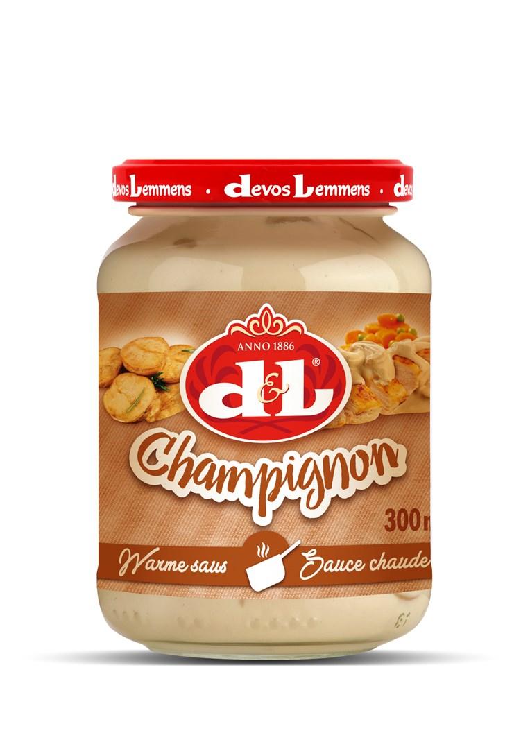 Productafbeelding D&L Warme Saus Champignon 300 ml Bus