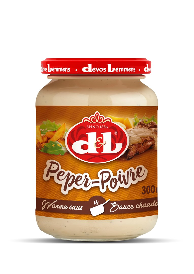 Productafbeelding D&L Warme Saus Peper 300 ml Bus