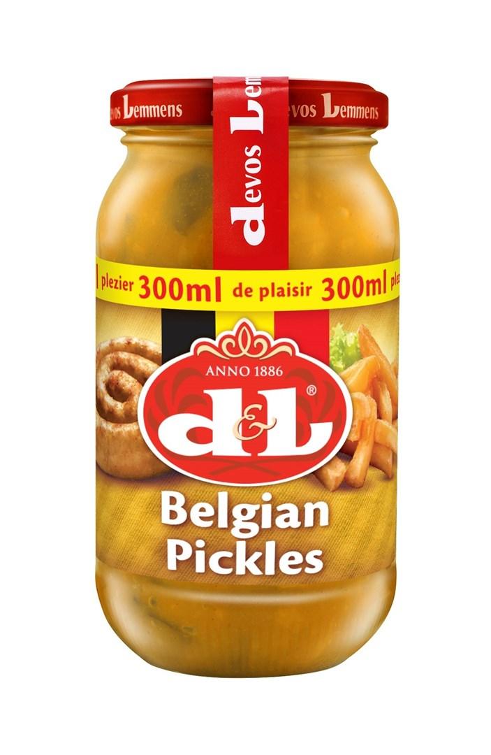 Productafbeelding D&L Saus Belgian Pickles 300 ml Bus