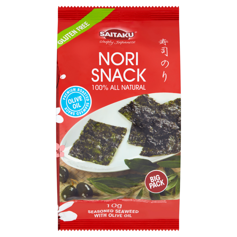 Productafbeelding Saitaku Zeewier Gluten Free Nori Snack with Olive Oil 10 g Zak