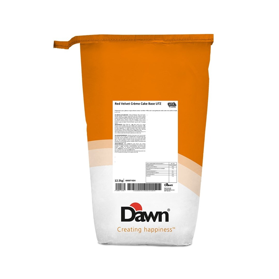 Productafbeelding Dawn Red Velvet Crème Cake Base UTZ MB 12,5 kg zak
