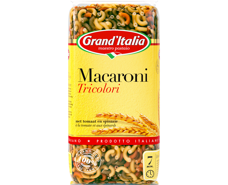 Productafbeelding Grand'Italia Pasta Macaroni Tricolori 500 g Zak