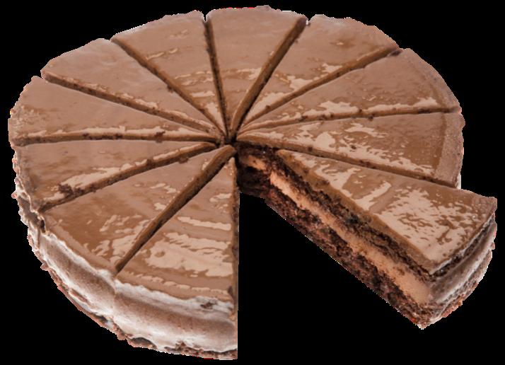 Productafbeelding Brownie Ganachetaart 12 punten