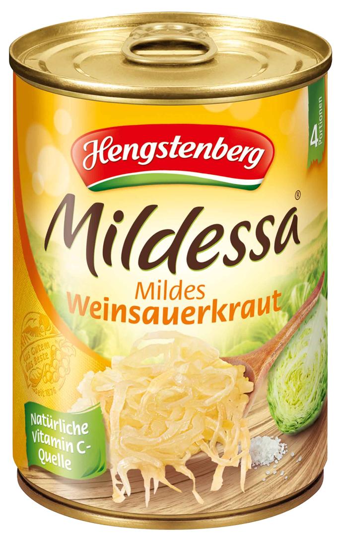 Productafbeelding Hengstenberg Mildessa zuurkool mildes wein 550g blik