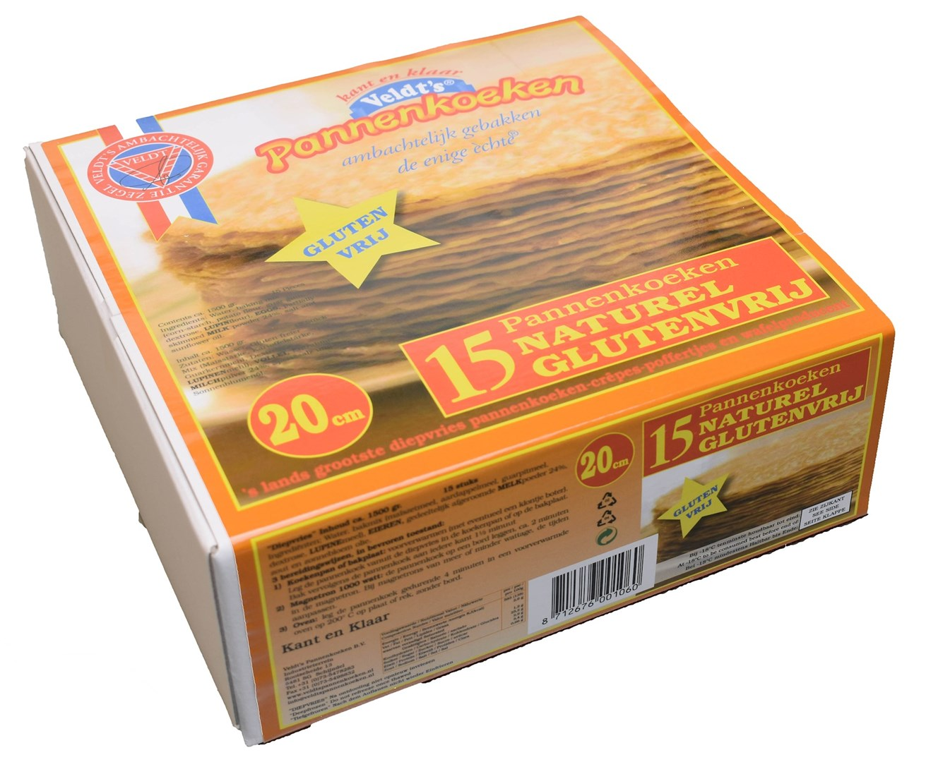 Productafbeelding Glutenvrij Naturel Pannenkoek 20 cm 15 x 100 gr.